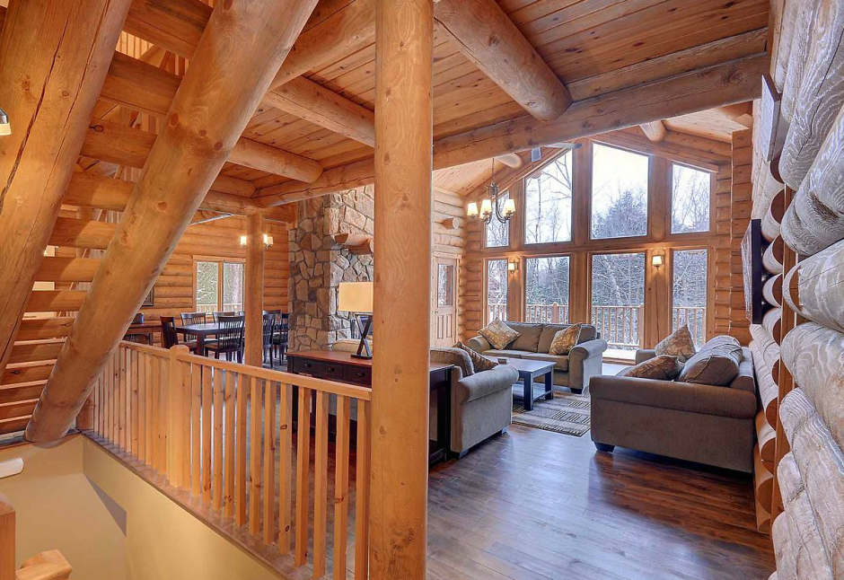 435 chalets bois rond. Black Bedroom Furniture Sets. Home Design Ideas